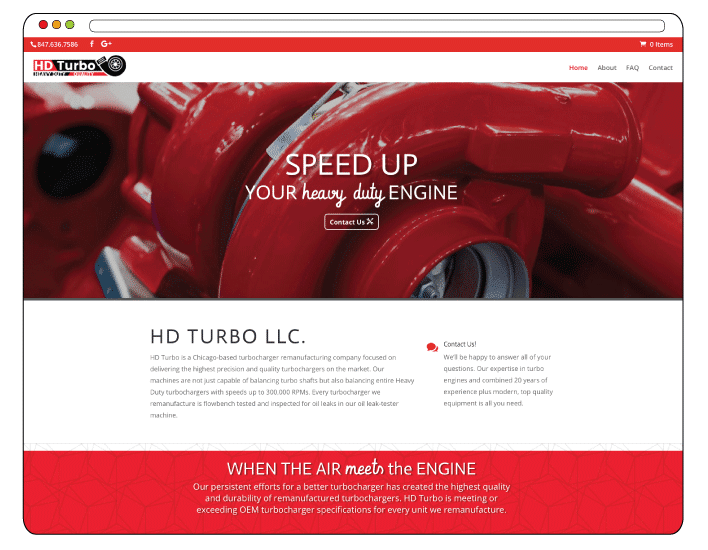 hdturbo.com turbocharger, web design, website concept and development, how to create a website