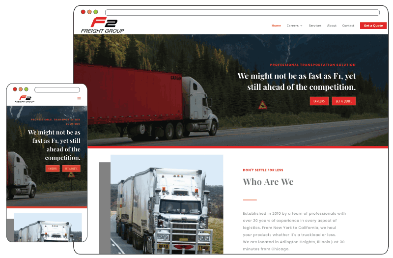 Branding and Web Design for truck company