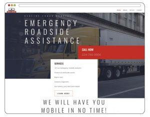 Redline Truck Service Branding and Web Design, Web Design Arlington Heights