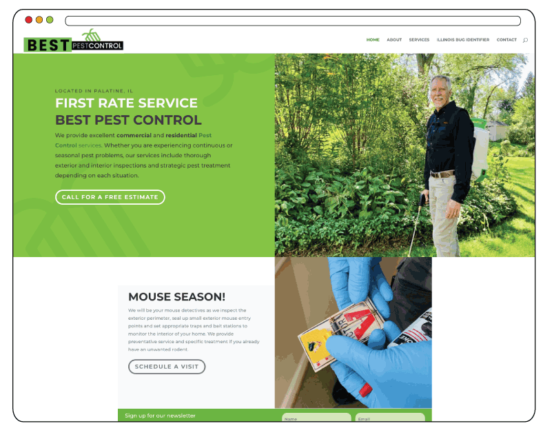 Best Pest Control Website Design