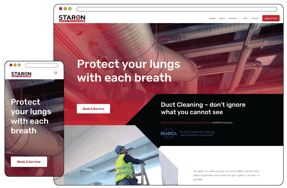 Branding and Web Design for Duct Cleaning Company
