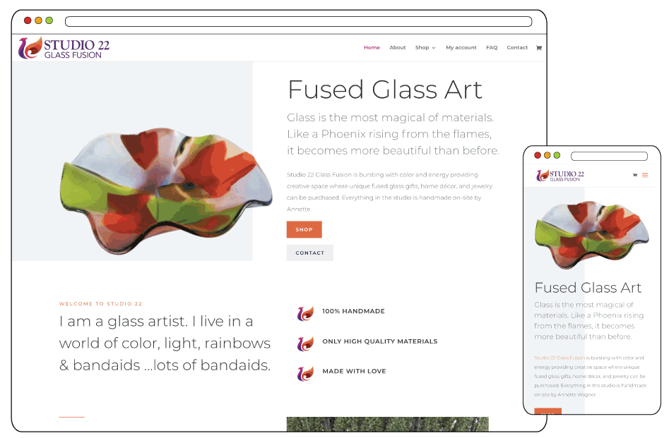 Glass Fusion Art Branding and Web Design
