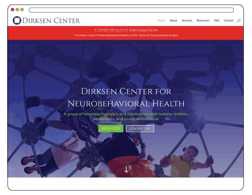 Dirksen-Center--psychologist-website-design,-therapist,-SEO