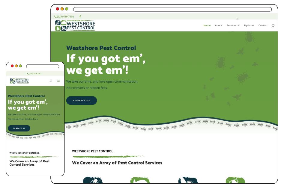 2020 web design pest control company Illinois
