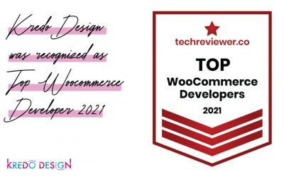 Kredo Design recognized as a Top WooCommerce Developer in 2021